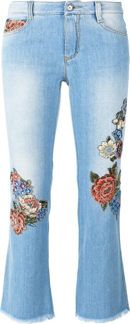 Ermanno Scervino floral motif cropped jeans
