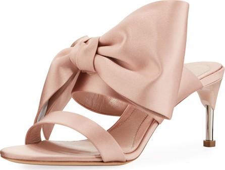 Alexander McQueen Satin Bow Sandals
