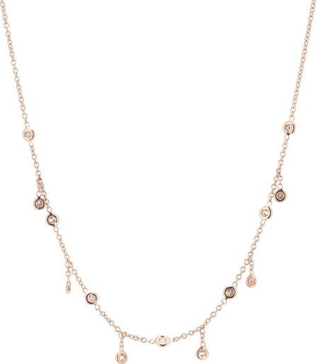Jacquie Aiche Shaker 14kt rose gold and diamond necklace