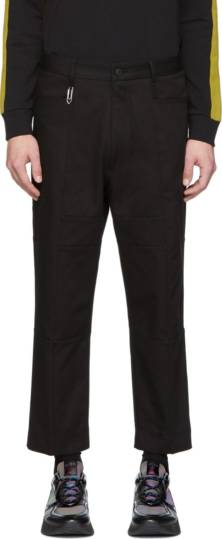 HUGO Black Feryd Work Wear Trousers