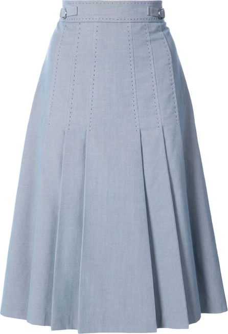 Gabriela Hearst pleated A-line midi skirt