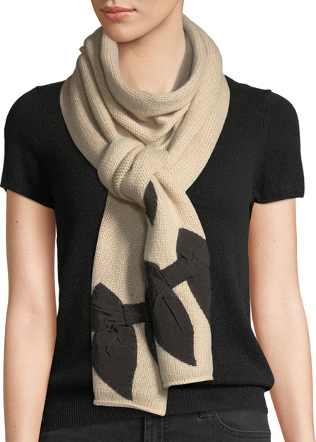 Kate Spade New York knit bow-accent scarf