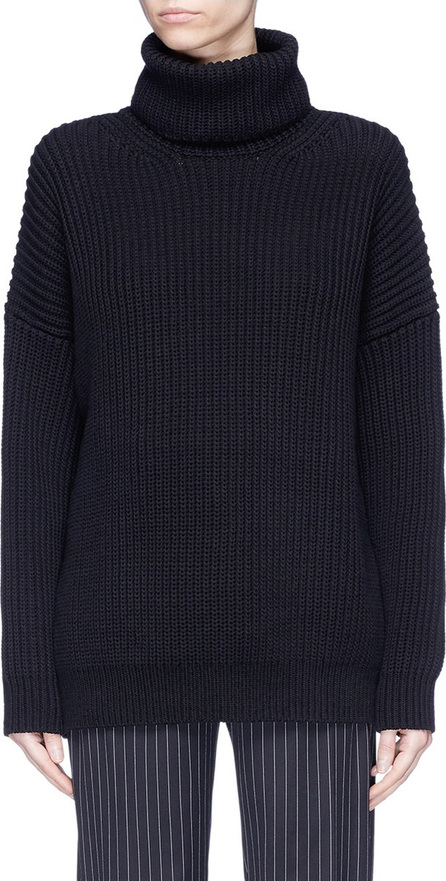 Acne Studios 'Piphy Chunky' colourblock back hem rib knit turtleneck sweater
