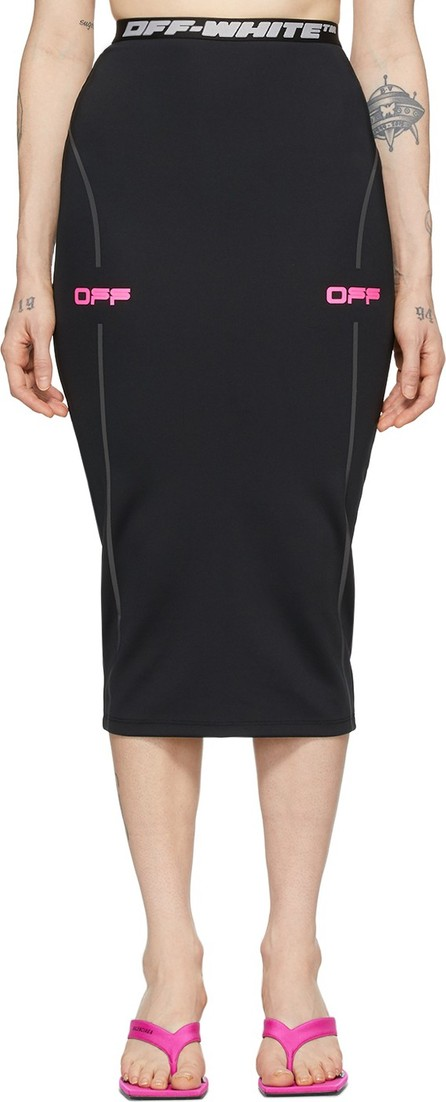 Off White Black & Pink 'Off' Active Pencil Skirt