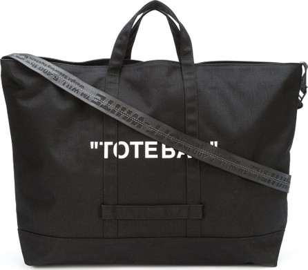 Off White quote tote bag