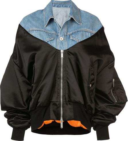 Ben Taverniti Unravel Project Contrast style bomber jacket