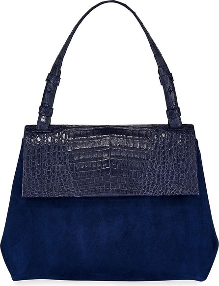 Nancy Gonzalez Sophie Medium Crocodile and Suede Shoulder Bag