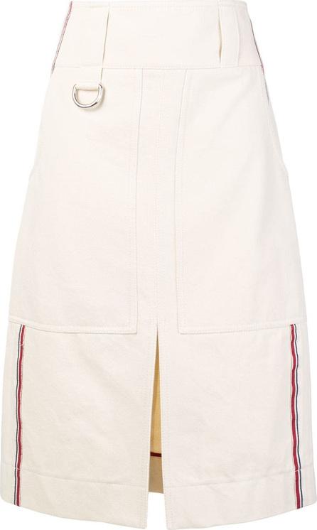 Burberry London England Striped denim skirt