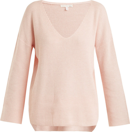 SKIN Veronica ribbed-knit cotton-blend sweater