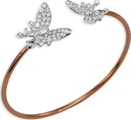 Staurino Fratelli Nature 18k Two-Tone Diamond Butterfly Cuff Bracelet