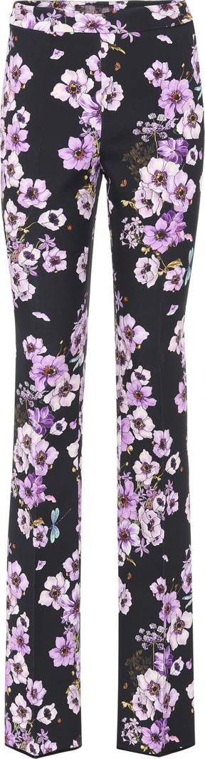 Giambattista Valli Printed silk trousers