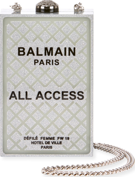 Balmain All Access Minaudiere Box Clutch Bag