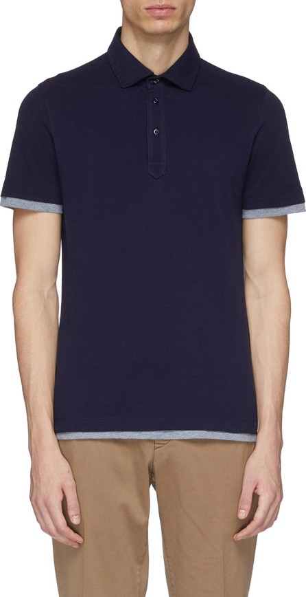 Brunello Cucinelli Layered cuff polo shirt