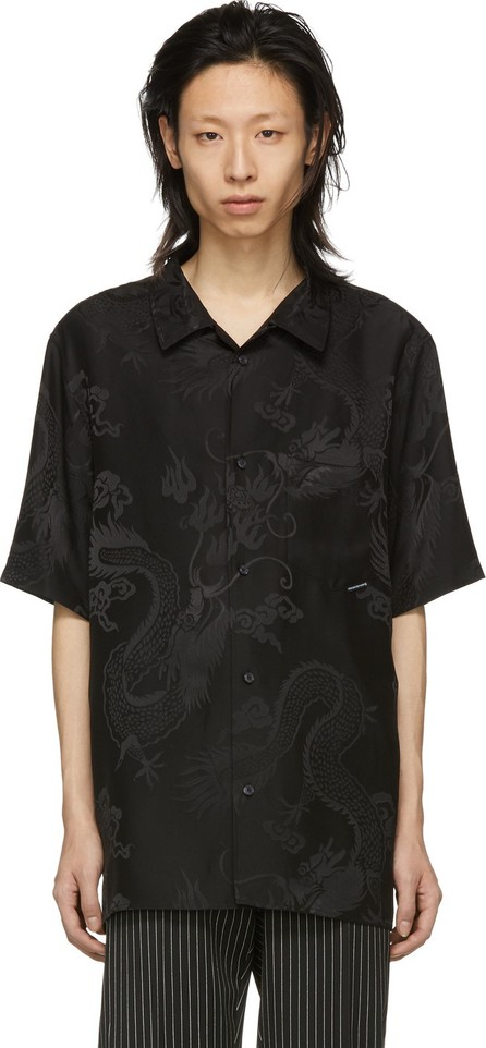 Alexander Wang Black Silk Dragon Shirt