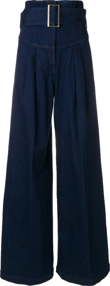 Erika Cavallini Belted flared trousers