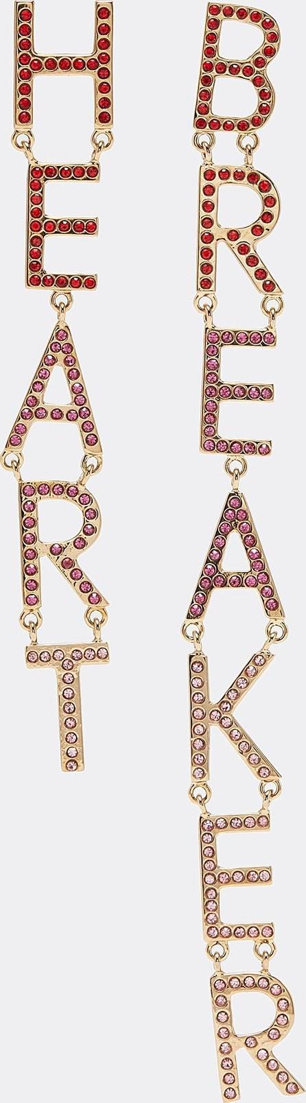 Bijoux De Famille 'Heart Breaker' strass drop earrings