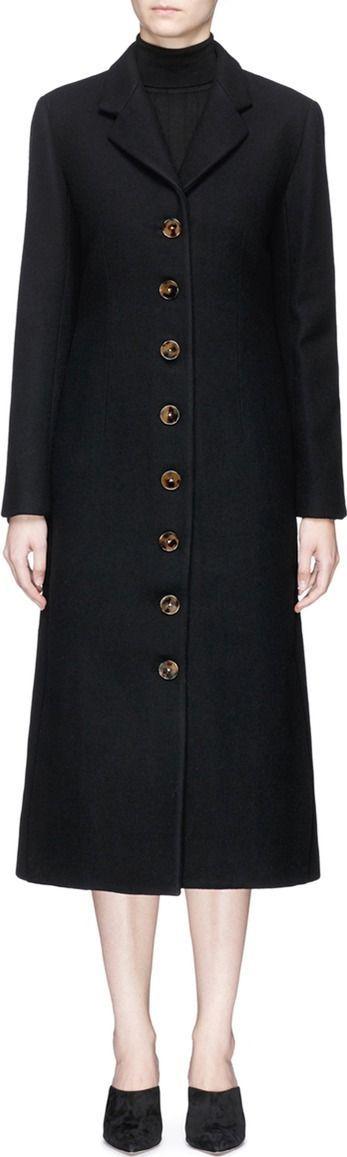 Khaite 'Nancy' wool melton long coat
