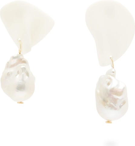 Completedworks Table Talk pearl & 14kt gold-vermeil earrings