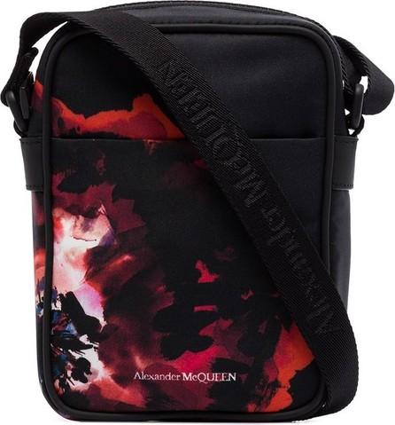 Alexander McQueen Rose print messenger bag