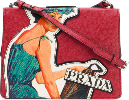 Prada Logo appliqué crossbody bag