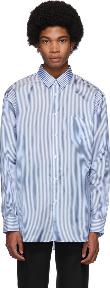Comme Des Garcons Blue & White Forever Lining Shirt