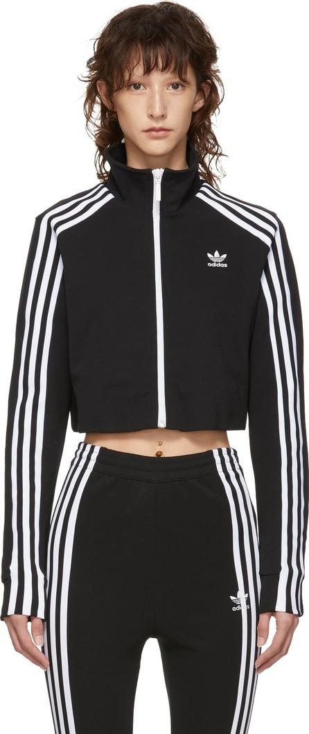 Adidas Originals Black Cropped Track Jacket