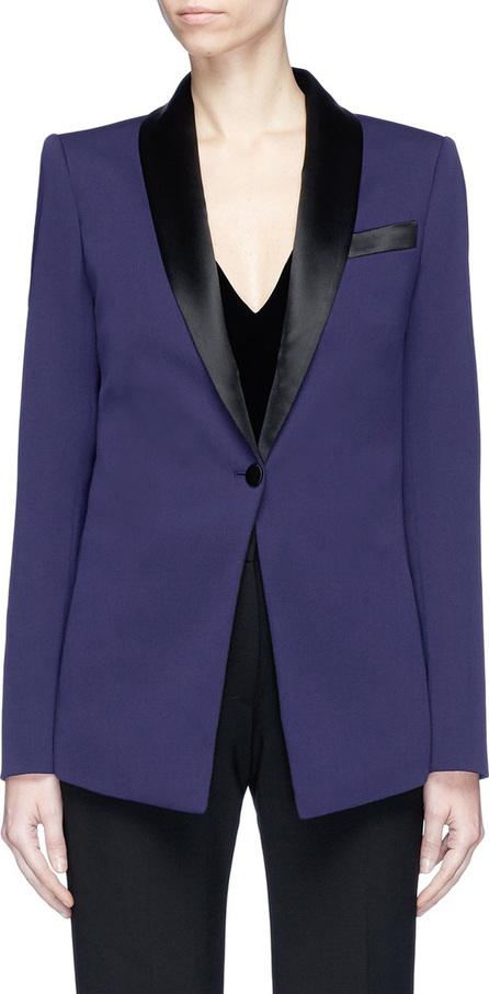 Lanvin Colourblock satin lapel tuxedo wool suiting blazer