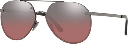 Burberry London England Mirrored Metal Aviator Sunglasses