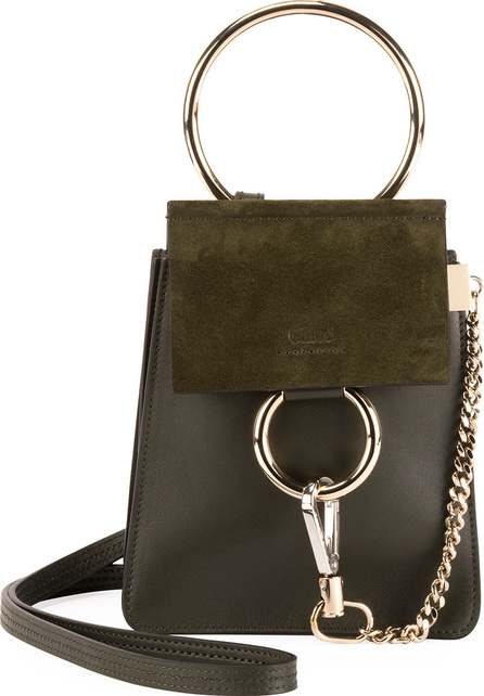 Chloe Faye Leather/Suede Bracelet Crossbody Bag