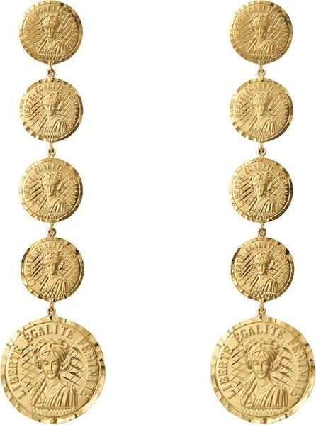 Anissa Kermiche Louise D'Infinie 18kt gold coin earrings