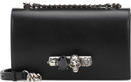 Alexander McQueen Skull crystal shoulder bag