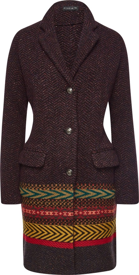 Etro Coat with Wool, Alpaca and Silk