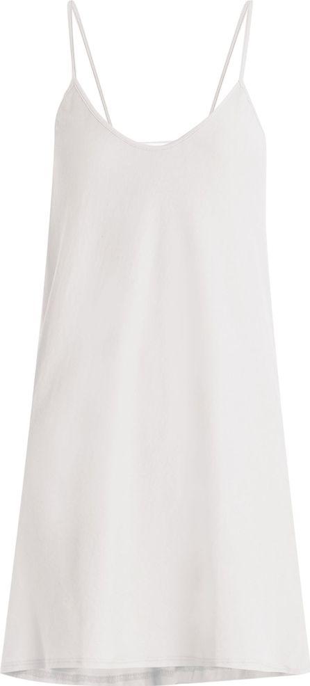 SKIN Scoop-neck pima-cotton jersey slip dress