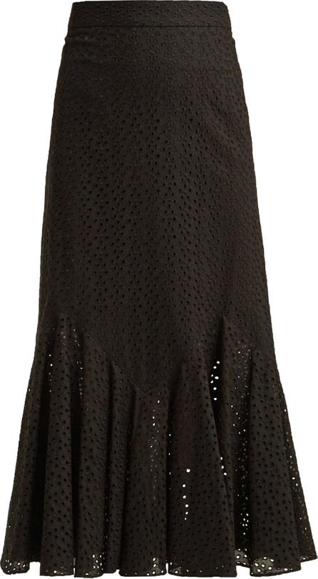 Raey Broderie-anglaise fishtail skirt