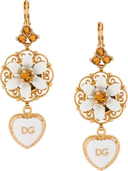 Dolce & Gabbana DG heart dropped earrings