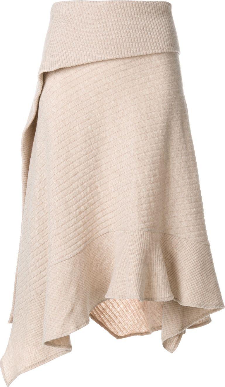 Paco Rabanne - asymmetric knitted skirt