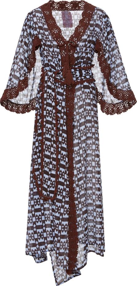 Yvonne S Linen Butterfly Wing Wrap Dress