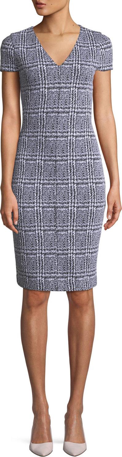MICHAEL MICHAEL KORS Plaid Jacquard Body-Con Dress