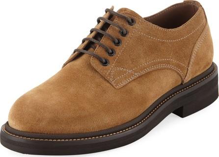 Brunello Cucinelli Men's Suede Lace-Up Shoes