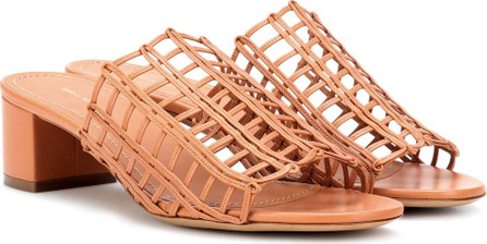 Mansur Gavriel Grid leather sandals