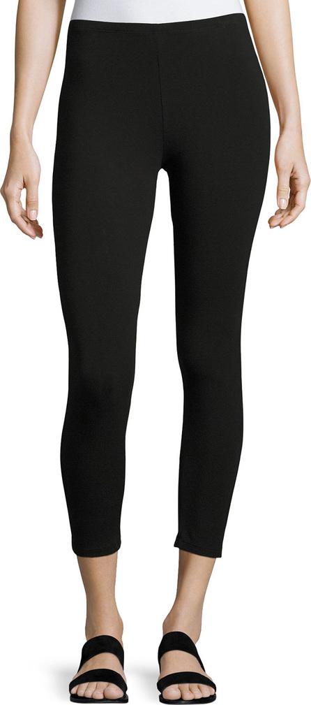 Joan Vass Jersey Ankle Leggings, Black