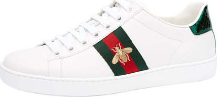 Gucci Bee Leather Platform Sneaker