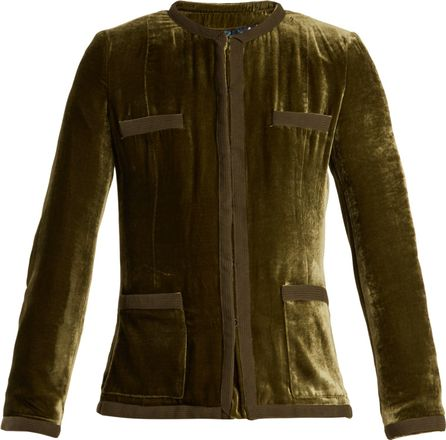 Etro Violante collarless velvet jacket