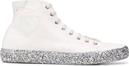 Saint Laurent Glitter-sole high-top sneakers