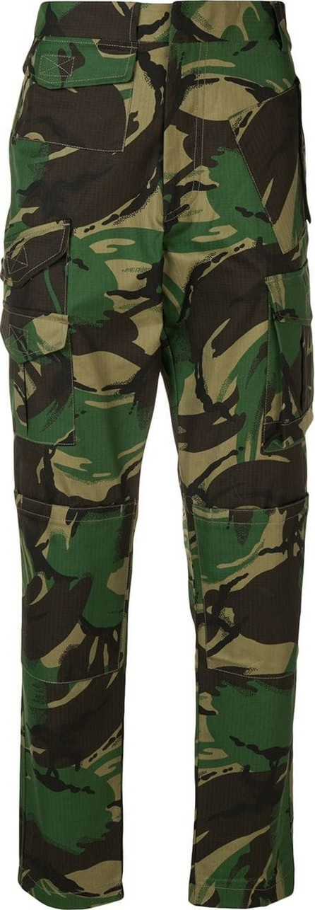 Cmmn Swdn Mid-rise camouflage trousers
