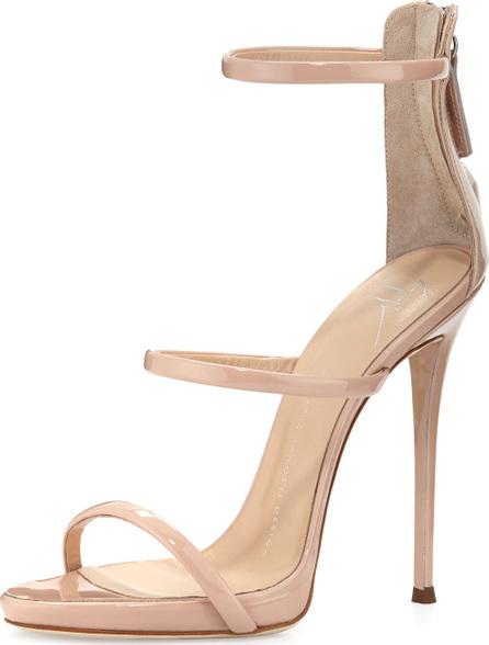 Giuseppe Zanotti Coline Patent Triple-Strap 110mm Sandal