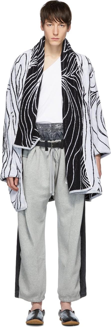 Bless White & Black Woodgrain Scheich Cardigan