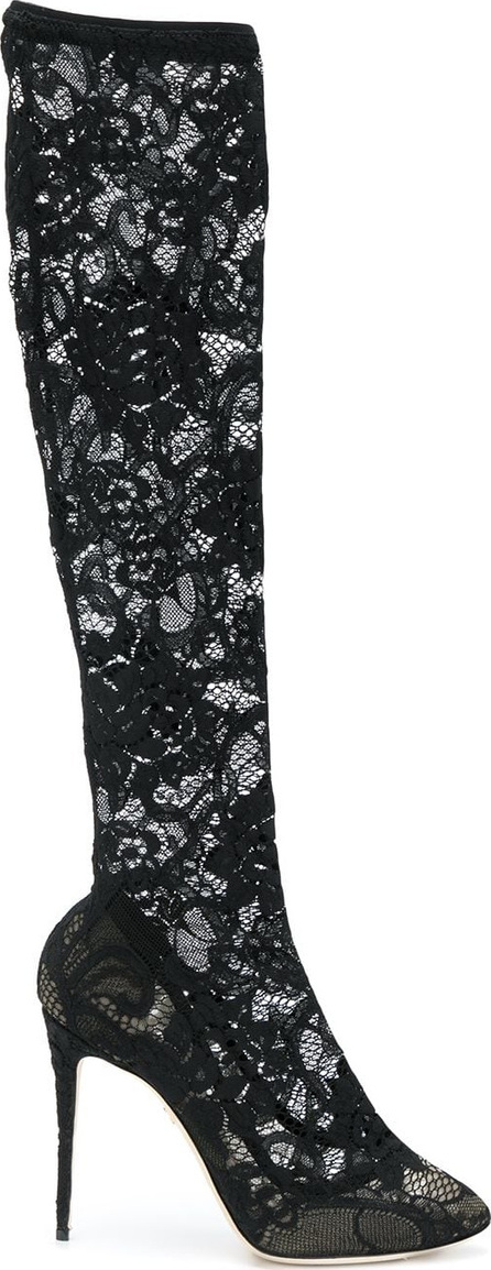 Dolce & Gabbana Lace knee-length boots
