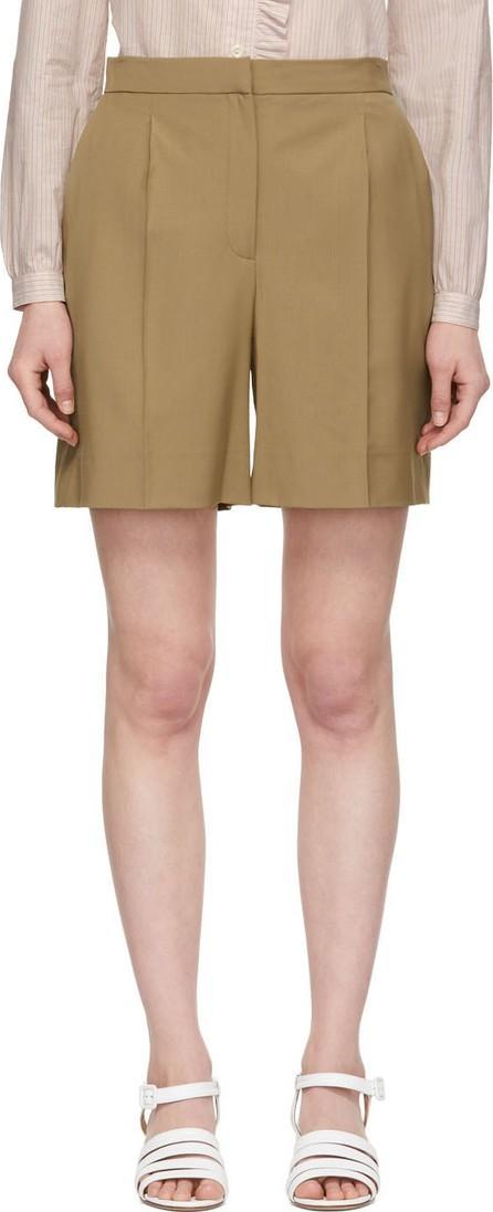 Alexachung Tan Tailored Shorts