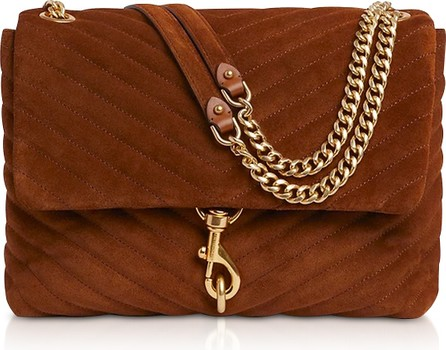 Rebecca Minkoff Edie Equestrian Suede Leather Flap Shoulder Bag